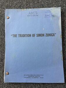 Rare TV movie film script THE TRADITION OF SIMON ZUNIGA wesley lau actor copy