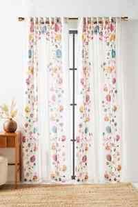 NWT Anthropologie Nadine Curtain 84 x 50 Floral