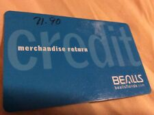 BEALLS DEPT STORE CREDIT OR MERCHANDISE CARD WITH $71.90.  CARD DOES NOT EXPIRE