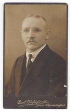CDV Gentleman Carte de Visite Photograph by Mussigbrodt of Jawor Poland