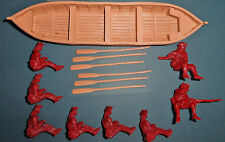 Barzso British Whaleboat - Boat, Crew and Oars - unpainted 54mm resin figures
