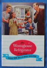 Vintage Westinghouse Refrigerator Manual, Booklet, 1947, Recipes, Instructions