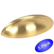 *5 Pack* Cosmas Cabinet Hardware Brushed Brass Bin Cup Handle Pulls #1399BB