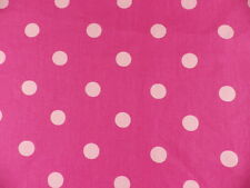 John Lewis Spot Pink Polka Dot Curtain Panama Fabric Remnant 2 off cuts