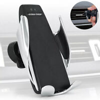 Qi Wireless Car Charger  Fast Charging Mobile Phone Holder for Samsung iPhone