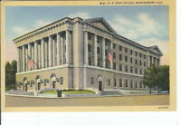 CB-054 AL, Montgomery, U.S. Post Office Linen Postcard with FlagsExterior View