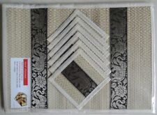 REED PLACEMATS WITH COASTERS | 6-Pack | Cream