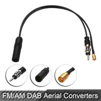 DAB FM/AM + Car Radio Active Antenna Aerial Splitter Adapter SMB Converter Cable