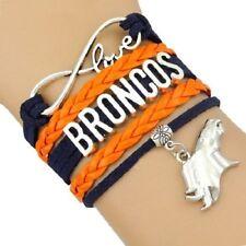 WHOLESALE LOT of 10 Denver Broncos Football Infinity Bracelets