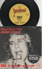 """JOHNNY O'KEEFE  COL JOYE  Rare 1977 Aust Only 7"""" OOP Rock P/C Single """"2NX-Shout"""""""