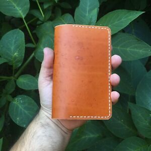 USA - CLW Handmade Veg Tanned Leather Wallet Field Notes Diary Journal Case EDC