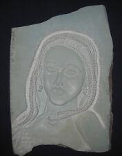"Bust sculpture carved on stone, named ""gaze"""