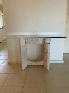Glass Wall Side Table
