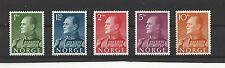 NORWAY # 370-374 MNH KING OLAV V High Value Definitives