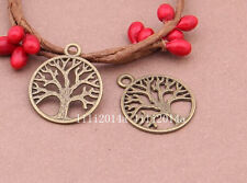 20pc  Antique Bronze tree Pendant Charms Accessories Bead  wholesale PL313