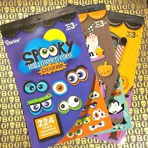 3 Halloween Sticker Books Darice Spooky Eyes Freaky Fountain Hair Today Kids Lot