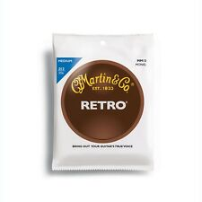 Martin MM13 Retro Acoustic Guitar Strings, Medium (13-56) +Picks
