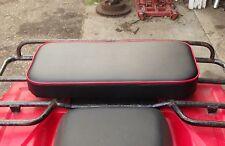 "24"" X 12"" RED REAR RACK SEAT PAD 185s 200s 125m 90 110 200 ATC HONDA 3 WHEELER"