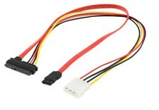 4Pcs SATA 22P to 7P+15P hard drive line optical drive data cable IDE power cord