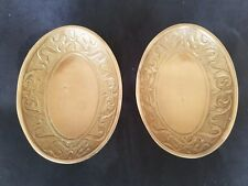 Set of 2 MATCHING Croscill Bronze Soap Dish CANTERBURY Made in India QUALITY