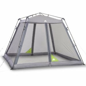 Coleman 10x10 Instant Canopy Screen House Shade Tent Beach Camping Game Picnic