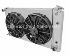 "Chevy Bel Air Custom Aluminum Radiator Fan Shroud & 2-14"" Fans -17""H x 28 1/4""W"