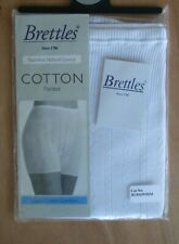 Brettles size 12-14 Seamless 100% Cotton knickers panties bloomers White
