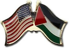 Wholesale Pack of 12 USA American Palestine Flag Hat Cap lapel Pin