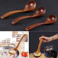 Wooden Deep Cooking Spoon Wood Soup Porridge Ladle Scoop Spoon Utensil Hot Sale