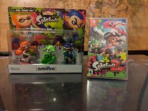 Splatoon 2 (Nintendo Switch) Factory Sealed w/ NEW Amiibo Inkling 3-pack