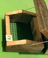 New ,Hand Made In U S A , ( Woodpecker )Upside-Down (Two-Cake)Suet Feeder