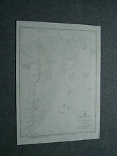 Vintage Admiralty Chart 1218 WEST INDIES - MOSQUITO COAST - 1864 edition