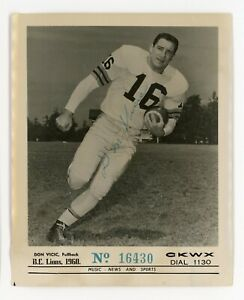 d19 BC Lions CFL football 1960 vintage signed CKWX radio photo Don Vicic