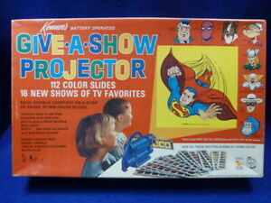 Vtg Kenner's Give-A-Show Projector The Lone Ranger Lassie Popeye Spiderman Bozo