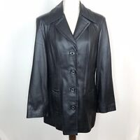 W By Winlet New York Black Leather Jacket Size Medium