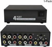 Amplificateur Audio Splitter vidéo 1X4 Port Splitter Composite 3 RCA Swicther