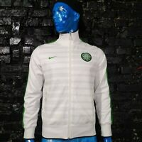 Celtic The Hoops Training Jacket With Zipped White Green Nike 436928-100 Mens M