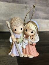 """Precious Moments Holy Family Ornament """"Born The King of Angels� #810009 Retired"""