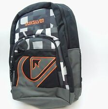 QuikSilver Backpack Schoolie black grey orange style 1153041005 NEW