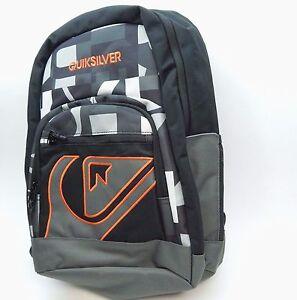 QuikSilver Backpack Schoolie black grey orange style 1153041005