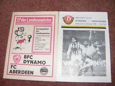 BFC DYNAMO v FC ABERDEEN FOOTBALL PROGRAMME - OCTOBER 1984