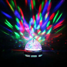 Rotating LED Club Pub Disco Party KTV Crystal Magic Ball Stage Effect Light RGB