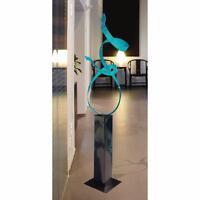 Statements2000 Metal Sculpture Aqua Modern Abstract Garden Yard Art by Jon Allen