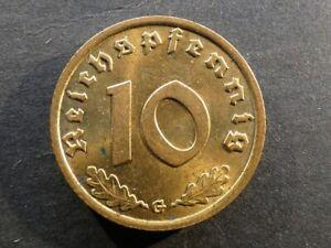Germany, 10 Reichspfennig, 1938G.
