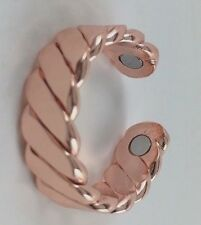 New! Men Women's Copper Magnetic Ring Adjustable Size 6 To 8 USA. Pain Healing