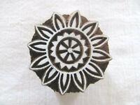 Indischer Holz Henna Stempel Ornament rund Nr. 1493