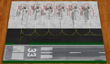 1/400 Model Airport Mat/Foil/layout Narrow body ground parking