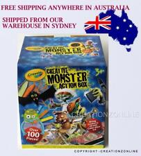 CRAYOLA CREATIVE MONSTER ACTION BOX OVER 100 PCS BRAND NEW BRING ZOMBIES TO LIFE