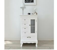 White Cabinet Display Cupboard Rustic Cabinets Country Kitchen Wooden Furniture