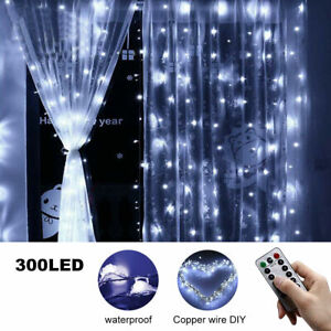 300 LED USB String Light Remote Control Home Party Wedding Curtain Fairy Lights